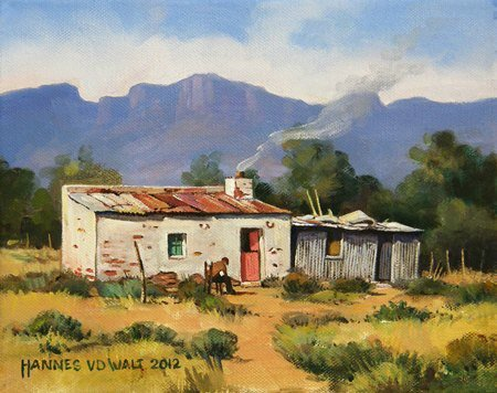 Oil on Stretched CanvasSize: (253x202x18)mmUnframedDONATED to Granny's House 2013Owner: Johannes Swanepoel (Vrede)