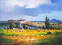 Oil on Canvas Board  Size: (305x230x2)mm  Frame: (423x340x30)mm  SOLD 2009