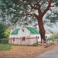 Oil on Stretched CanvasSize: (305x305x16)mmUnframedSOLD 2916 (by Franschhoek Art House)