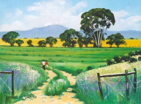 Oil on Canvas Board Size: (305x230x2)mm Frame: (410x335x25)mm SOLD 2009