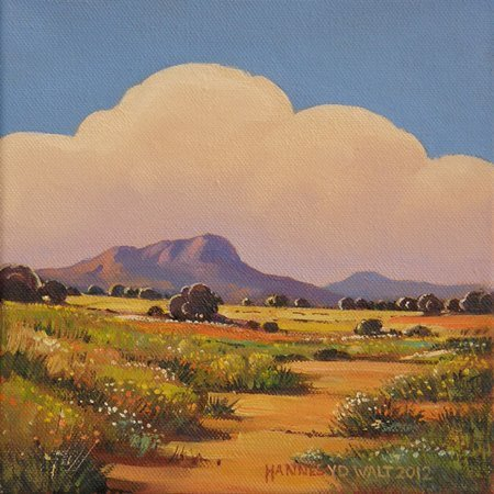 Oil on Stretched CanvasSize: (203x203x18)mmFrame: (390x390x40)mmSOLD 2013 (Franschhoek Art House)