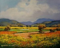 Oil on Stretched Canvas Size: (255x205x18)mm Frame: (325x275x38)mm SOLD 2012 (Franschhoek Art House)