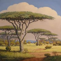 Oil on Stretched Canvas Size: (510x510x18)mm Frame: (626x626x30)mm SOLD 2012 SOUTH AFRICA