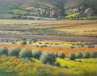 Oil on Stretched CanvasSize: (510x405x18)mmUnframedSOLD 2014(Gallery91 Somerset West)
