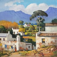 Oil on Stretched CanvasSize: (300x300x16)mmUnframedSOLD 2014 (Franschhoek Art House)