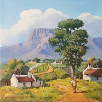 Oil on Stretched CanvasSize: (300x300x18)mmUnframedSOLD 2015 (by Franschhoek Art House)
